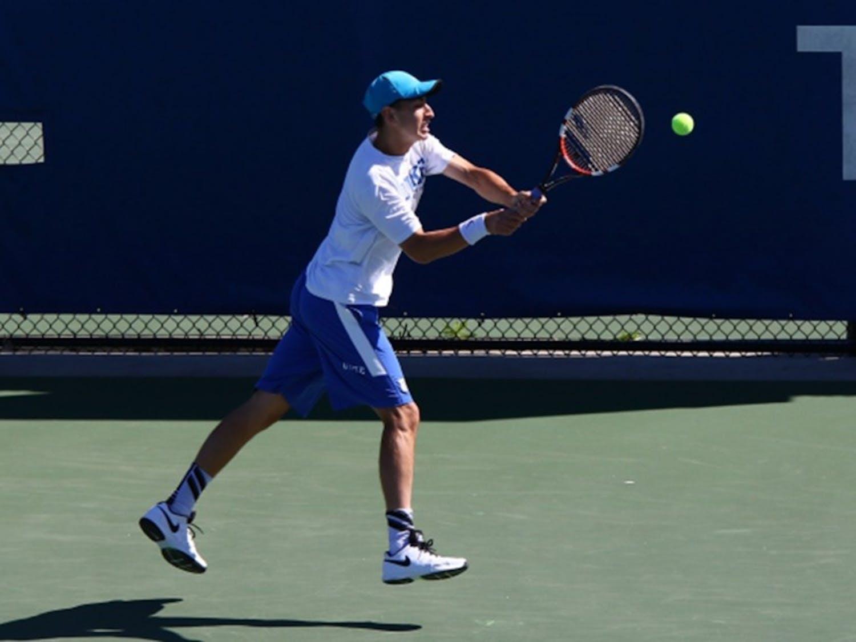 Sophomore Nicolas Alvarez was the lone Blue Devil to notch a singles win Sunday against North Carolina, heading into the postseason riding a three-match winning streak.