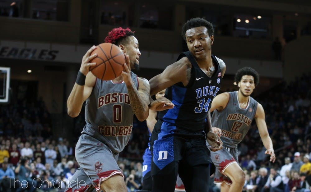 <p>Ky Bowman dropped 30 points on the Blue Devils in last season's upset win.</p>