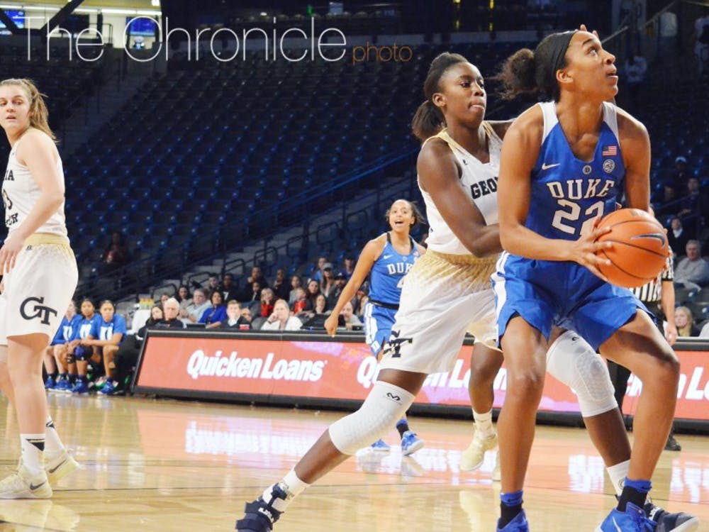 Senior Oderah Chidom stayed out of foul trouble and helped control the interior for the Blue Devils with four blocks, also adding 12 points.