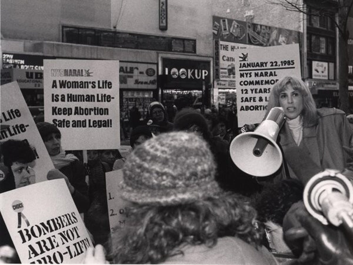 Merle Hoffman, pictured above at an abortion rights rally, is just one of the many women connected to the Sallie Bingham Center for Women's History and Culture.