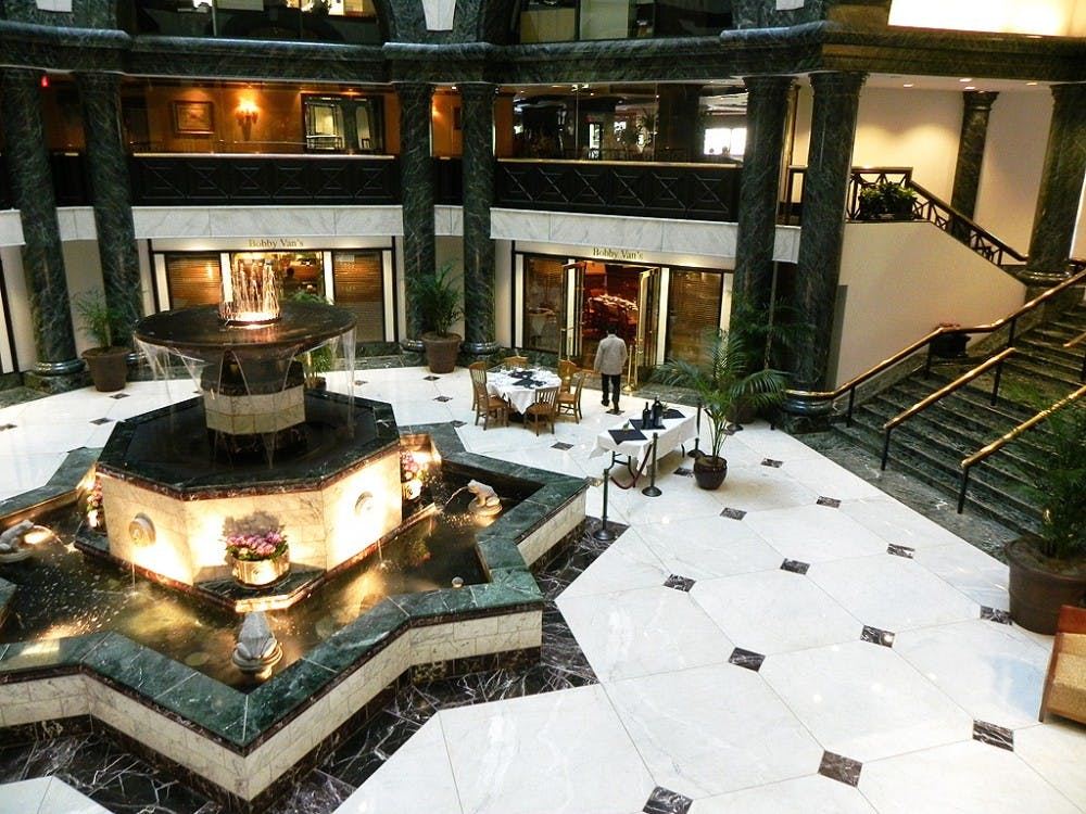 The lobby of the building where Duke's new Washington, D.C. office is to open in late April.