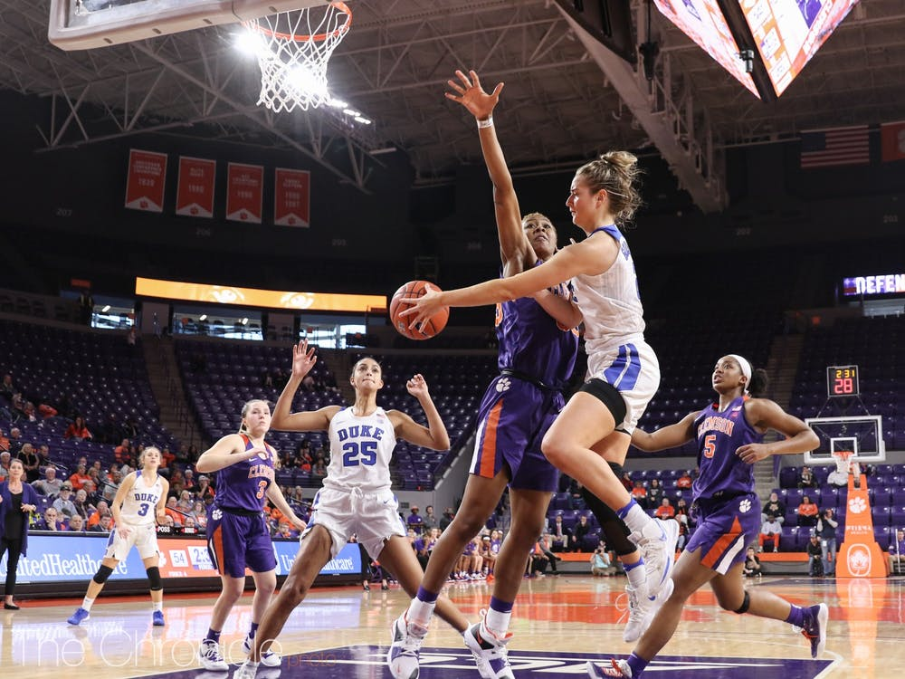 The women's basketball team lost to Clemson on Jan. 19, 2019.