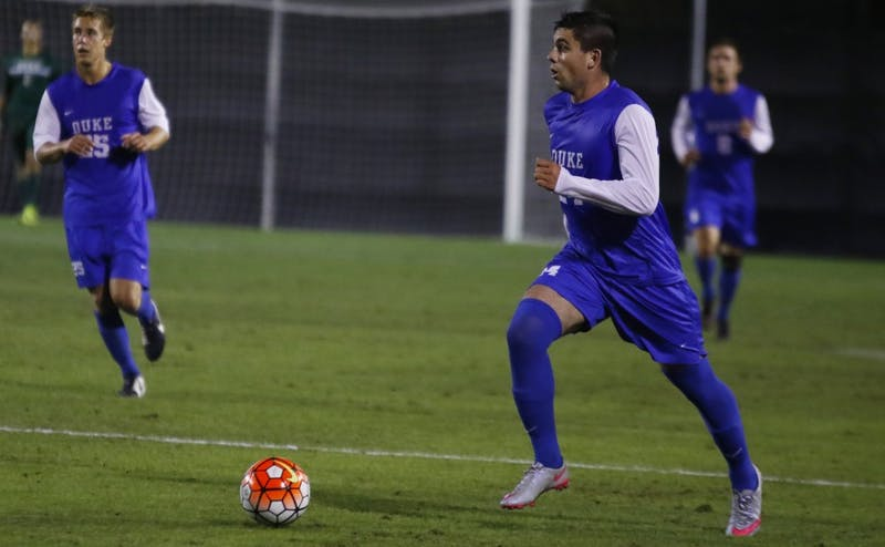 Junior Brian White's goal in the 88th minute helped Duke notch its first victory against a ranked opponent this season Friday against UCLA.