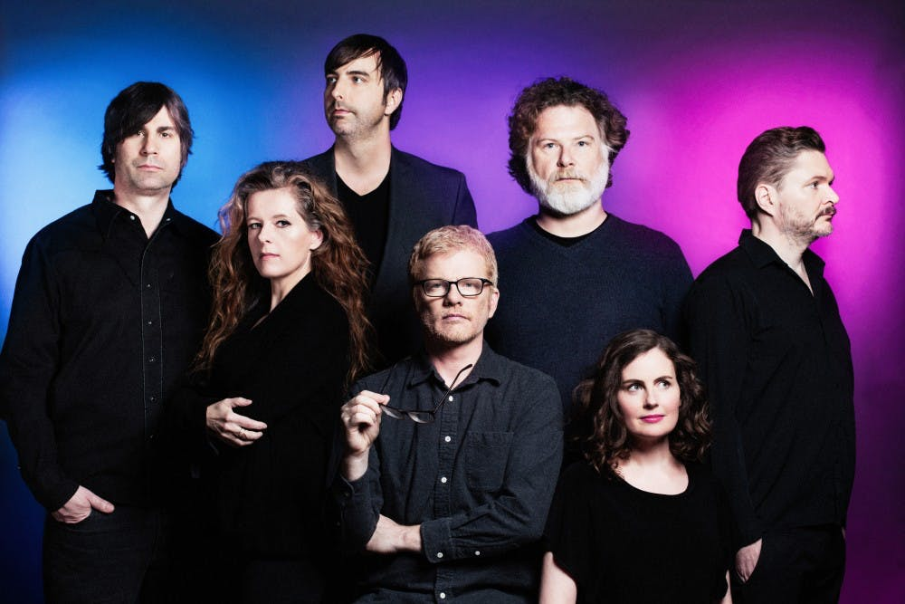 """<p>Carl Newman, front center, and The New Pornographers just released their seventh album """"Whiteout Conditions.""""</p>"""