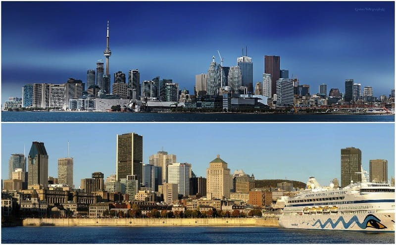 The Blue Devils will visit both Toronto (above) and Montreal (below), Canada's two most populous cities, during their preseason tour.