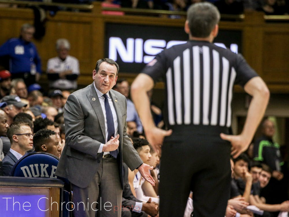 Mike Krzyzewski was beaming about his team postgame.