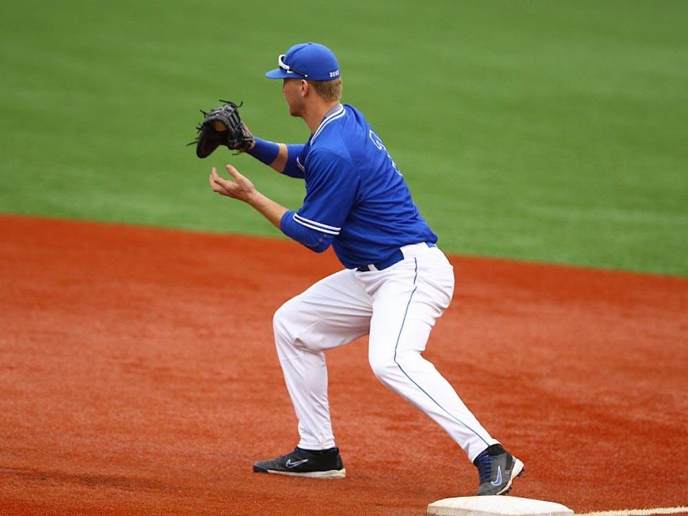 Freshman Justin Bellinger drove in the winning runs in Duke's six-run ninth Saturday.