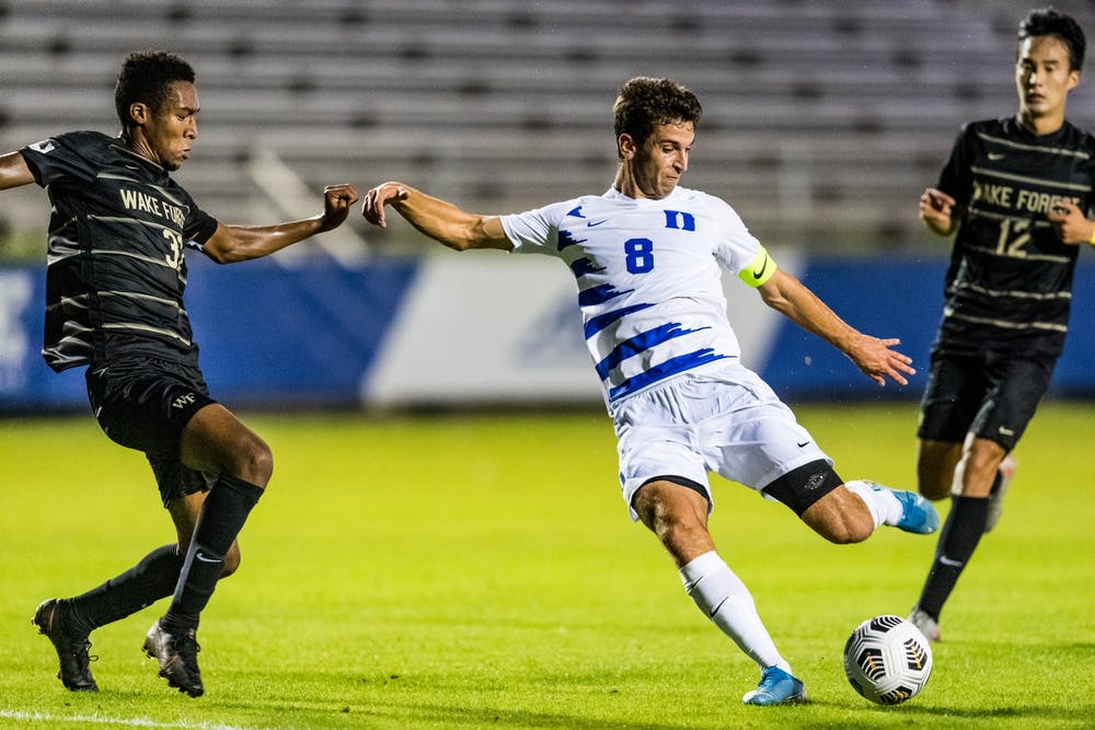 After missing all of 2019 due to injury, graduate student Jack Doran has been a mainstay for Duke's offense this season.