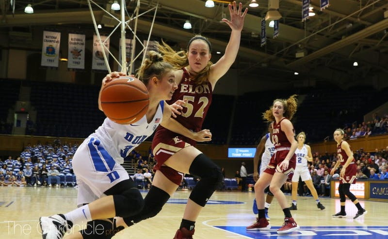 Freshman Miela Goodchild reached double figures in scoring for the second straight game Sunday.