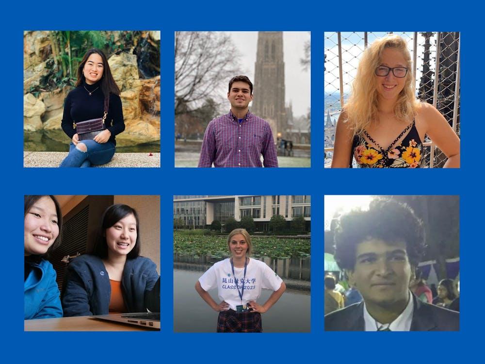 <p>Clockwise from top left: Samantha Tsang, Charlie Colasurdo, Johanna Crane, Aryan Poonacha, Mia Meier, Joy Xiao (left) and Leiyuan Tian (right)</p>
