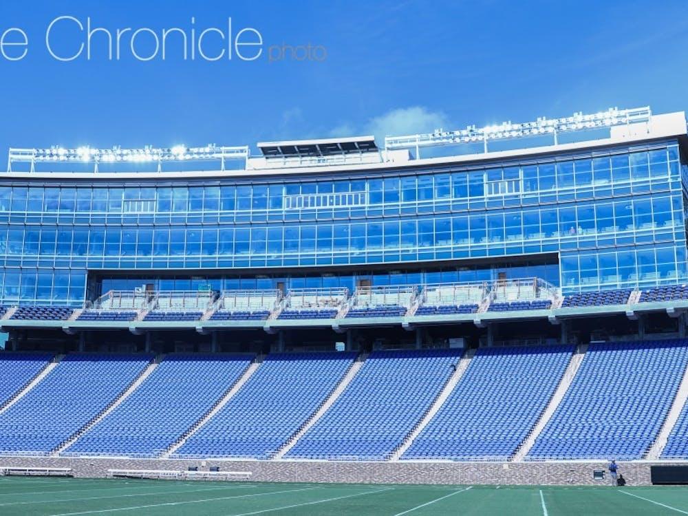 Wallace Wade Stadium will begin the season a bit quieter than normal.