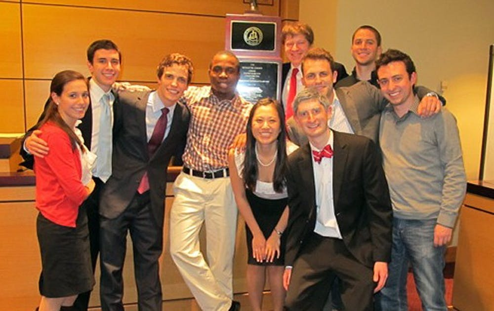 Duke's mock trial team travelled to St. Paul, Minn. where they won the national championship.