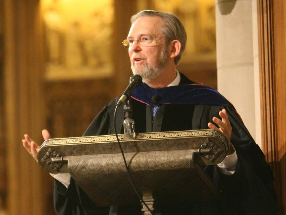 Richard Hays, pictured above, served Duke as a professor and scholar on the New Testament since 1991 before becoming Dean of the Divinity School.