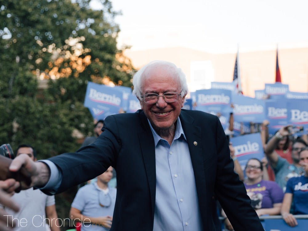 Democratic presidential candidate Bernie Sanders spoke at University of North Carolina at Chapel Hill as a part of his college campaign tour. Here are photographers Rebecca Schneid and Jackson Muraika's best shots from the rally.