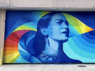 """Through the augmented reality app """"Mariposa AR,"""" Cecilia Lueza's mural of Frida Kahlo becomes a vehicle for stories of immigration."""