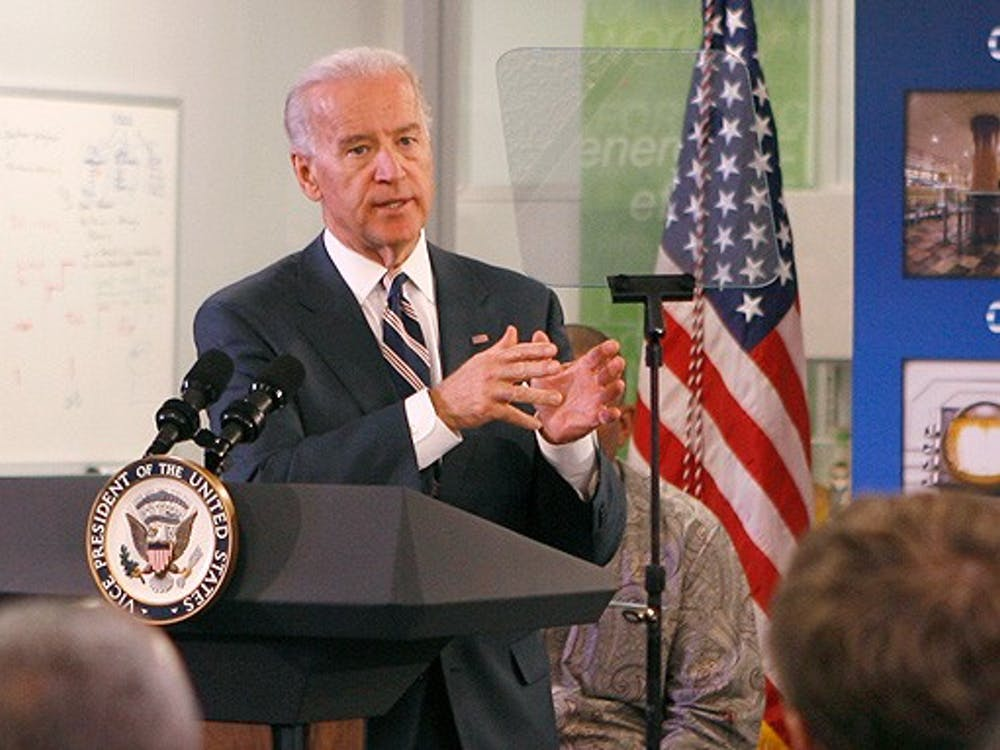 Speaking at Cree, Inc. in Durham Thursday, Vice President Joe Biden advocates for the widespread adoption of energy-efficient LEDs. Secretary of Energy Steven Chu accompanied Biden on the visit.