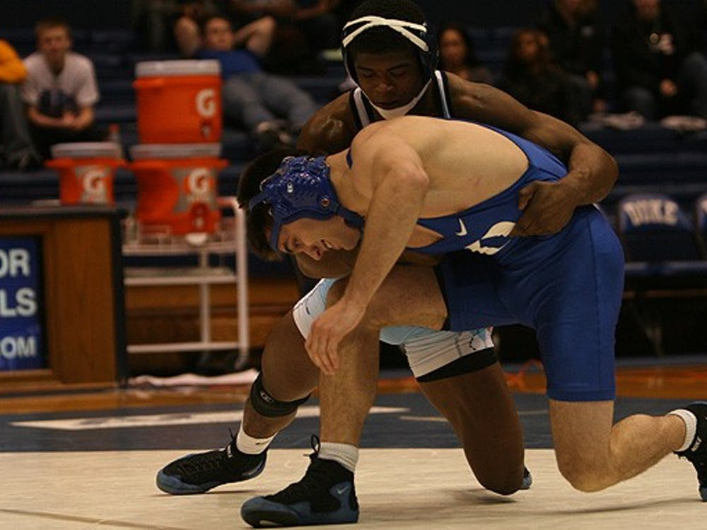 In one of its two home conference matches of the season, the Blue Devils fell to rival North Carolina, 33-9.