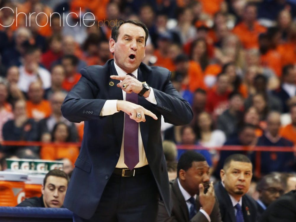 Head coach Mike Krzyzewski has had to manage injuries and high expectations for his latest stacked recruiting class.