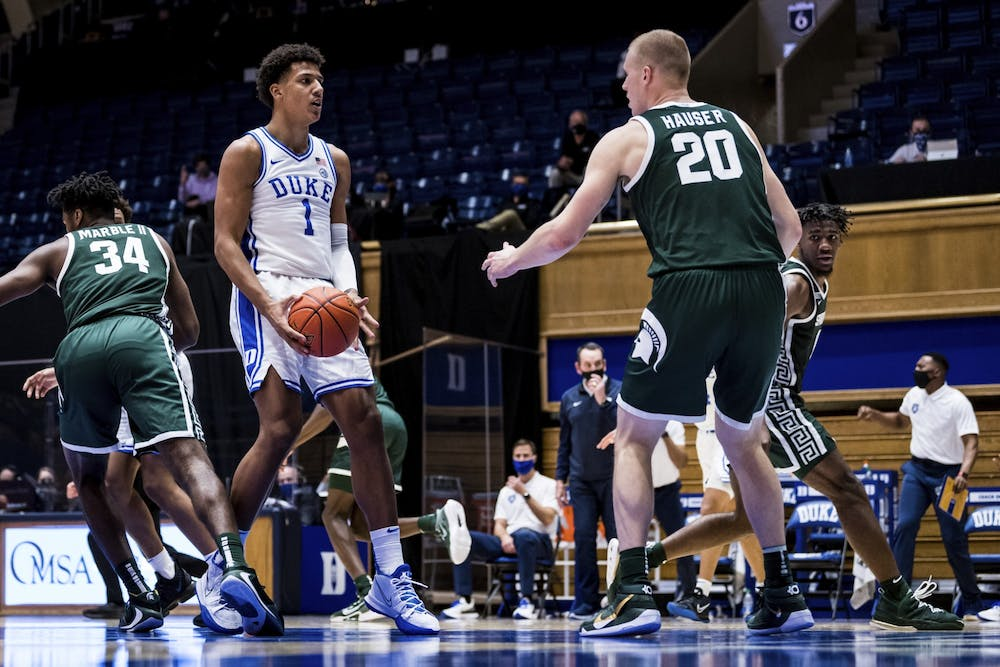 Freshman forward Jalen Johnson will look to bounce back from a 4-for-11 performance against Michigan State.