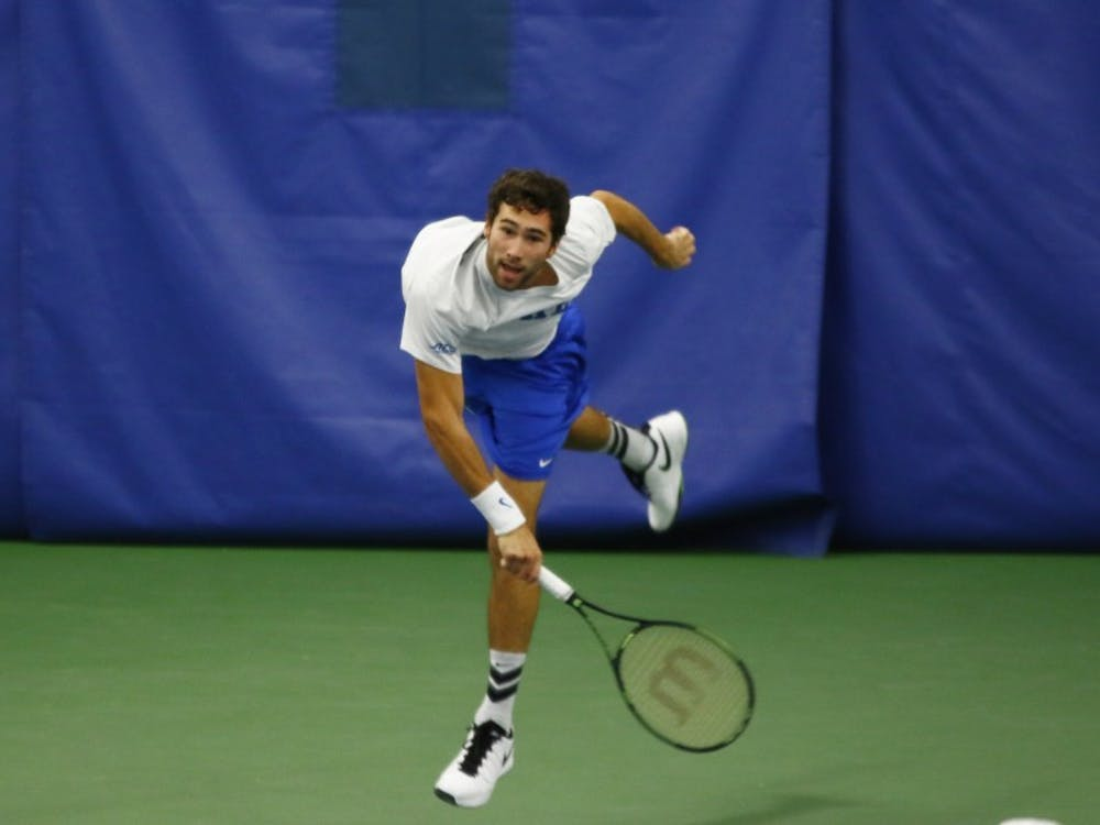 Freshman Catalin Mateas knocked off a ranked opponent Sunday and will look to continue the momentum when the Blue Devils host No. 7 Illinois Friday.