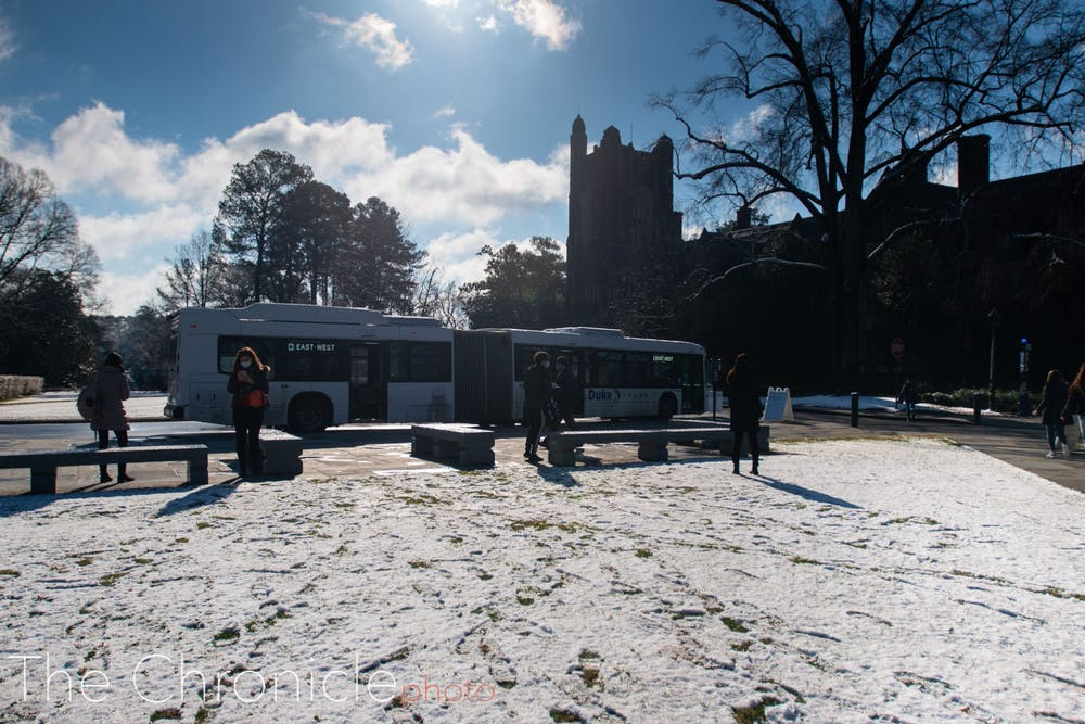 <p>Wednesday brought the first campus snowfall of the semester.</p>