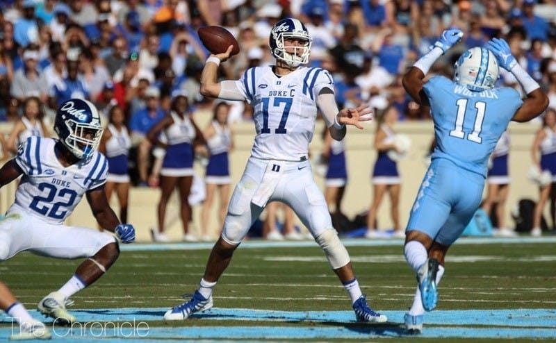 Daniel Jones has led Duke to three consecutive victories against North Carolina.