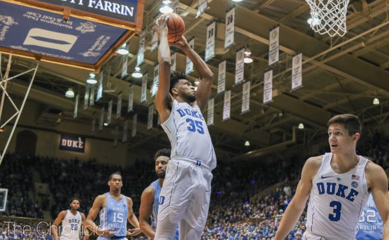 Marvin Bagley had 21 points and 15 rebounds to lead the Blue Devil comeback in the second half.