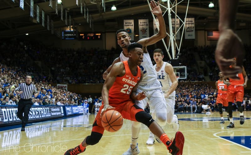 Duke's defense has seen marked improvement since switching to a matchup zone.