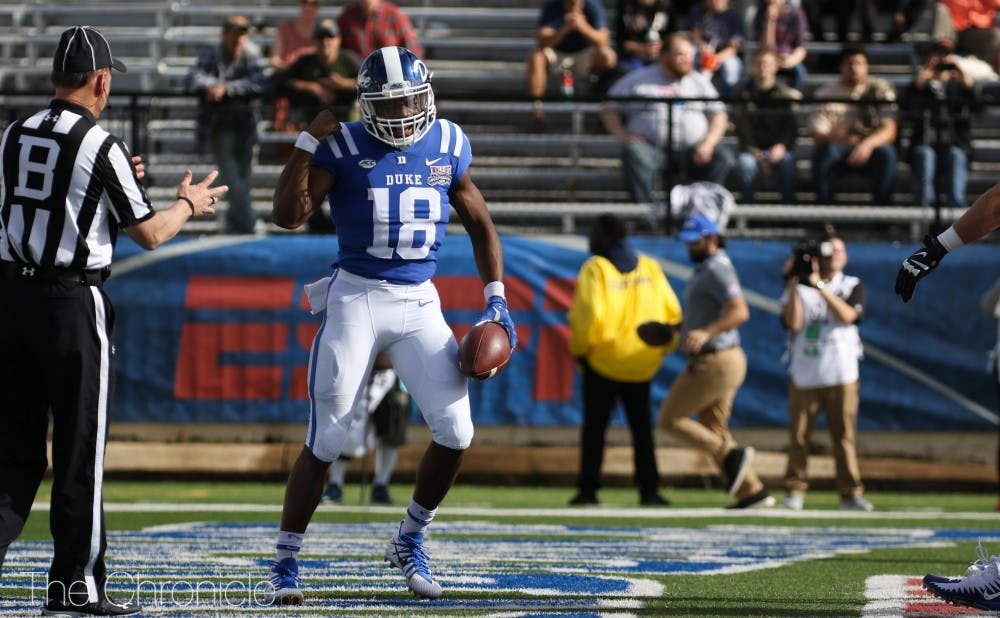 <p>Although Quentin Harris hasn't had the same standout career as Daniel Jones, the Blue Devil backup quarterback has had solid showings all season.</p>
