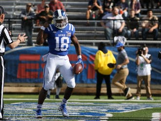 Although Quentin Harris hasn't had the same standout career as Daniel Jones, the Blue Devil backup quarterback has had solid showings all season.