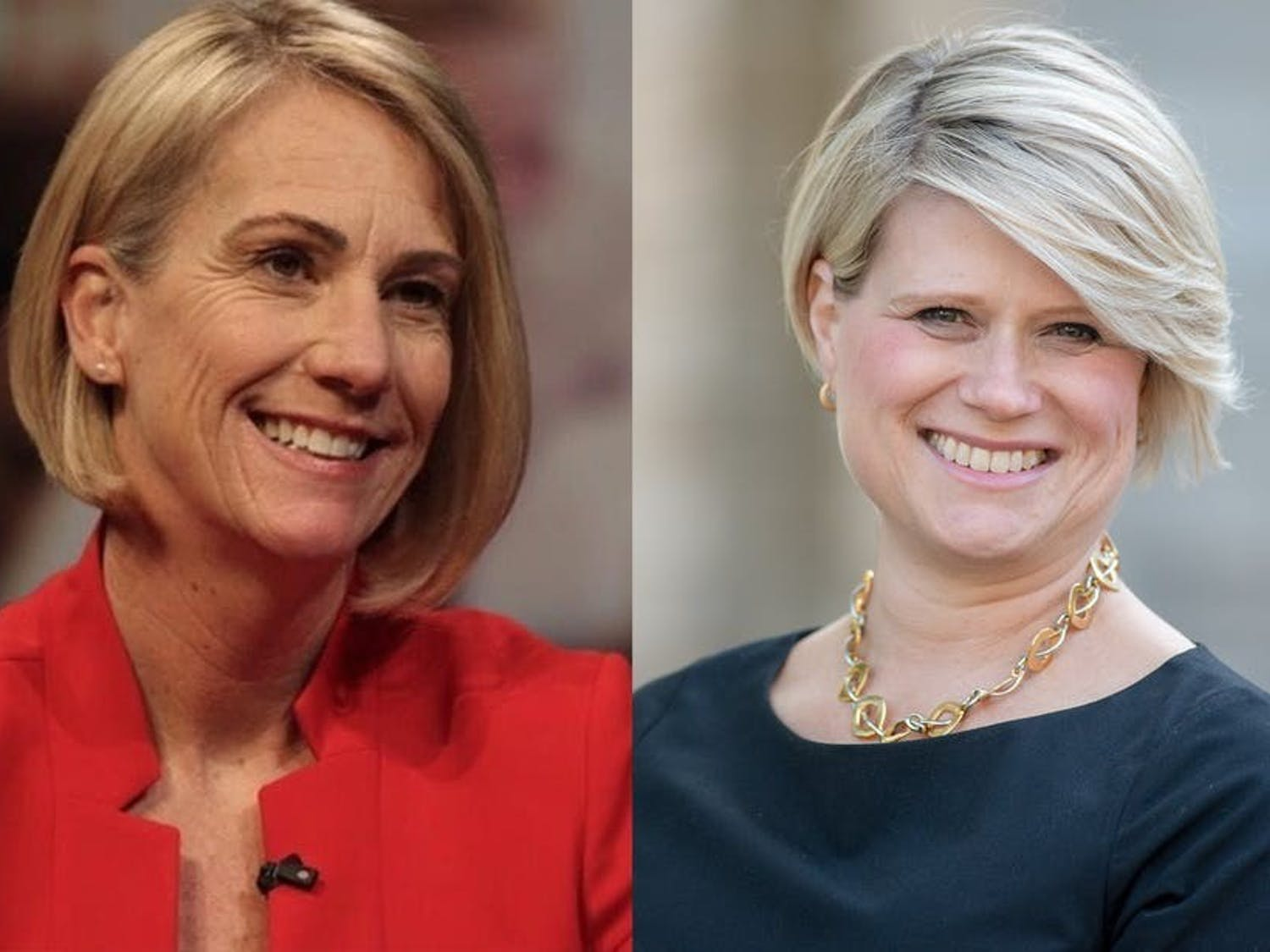 Jen Mangrum (left) and Catherine Truitt (right) are the two candidates for the new state superintendent of public instruction. Mangrum, the Democratic candidate, is an associate professor at UNC-Greensboro's School of Education and Catherine Truitt, the Republican candidate, is the chancellor at Western Governors University North Carolina.