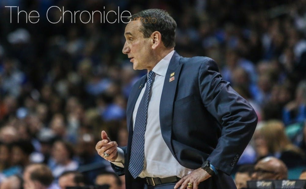 Mike Krzyzewski voiced support for the bill in support of college athletes Tuesday.