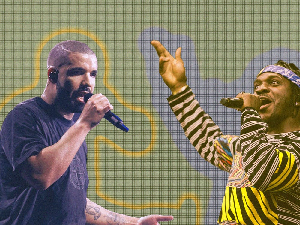 "Drake's 2018 album ""Scorpion"" clocks in at a whopping 90 minutes in length; Pusha T's 2018 release, ""Daytona,"" is a slim 21 minutes."