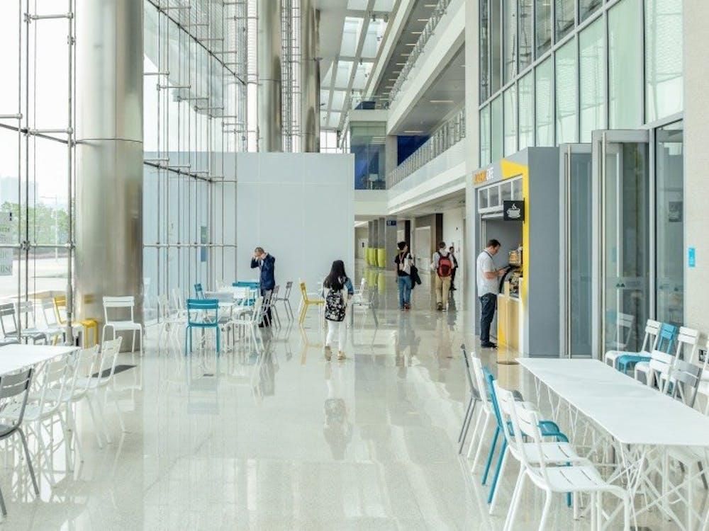 <p>A hall at Duke Kunshan University.</p>