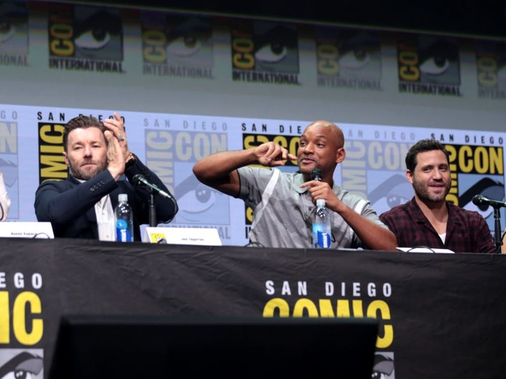 "The cast of the Netflix original film ""Bright"" speaks at San Diego Comic Con 2017."