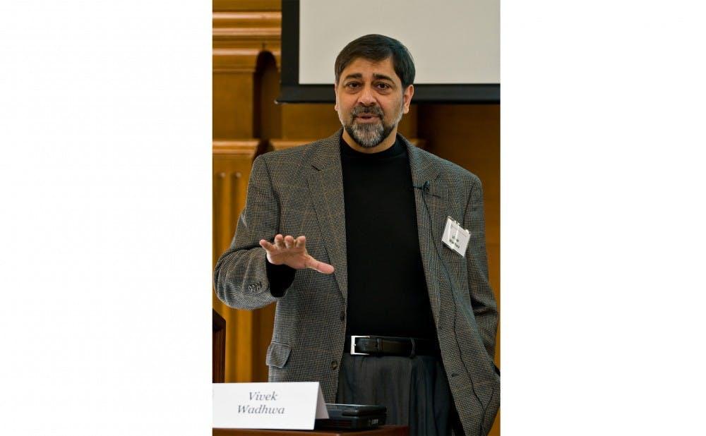 <p>Pratt adjunct professor Vivek Wadhwa thinks robots will be doing basically all human jobs by approximately 2030.</p>