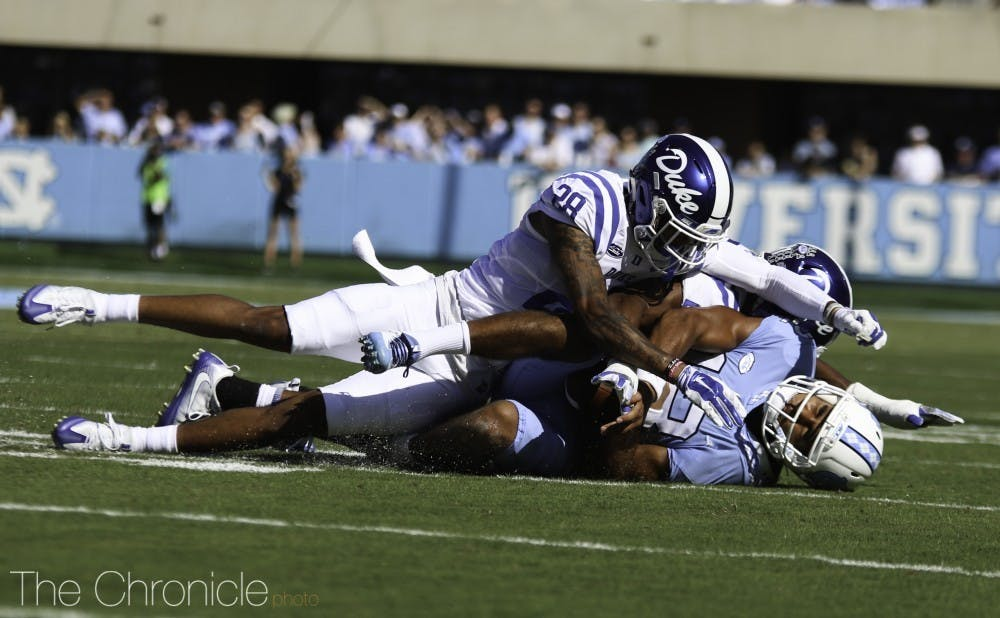 <p>Mark Gilbert is slotted to start at cornerback for the Blue Devils in 2020.</p>