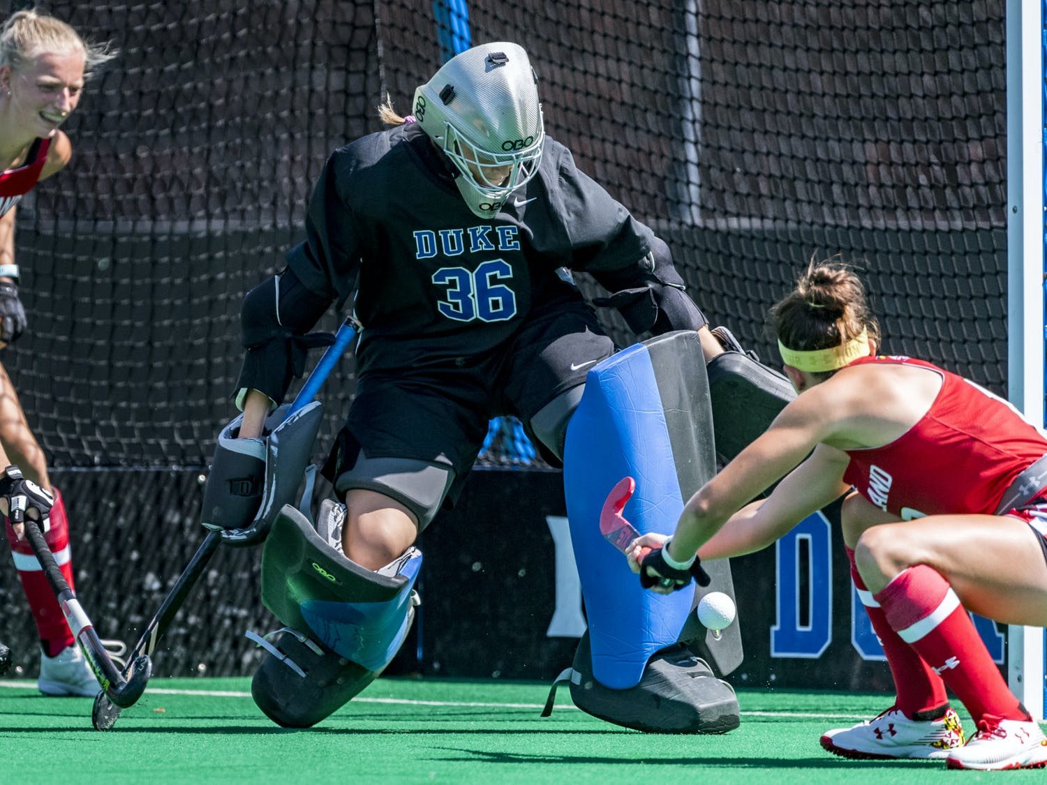 Goalie Grace Brightbill came in during the second half of the Maryland game and recorded four saves.