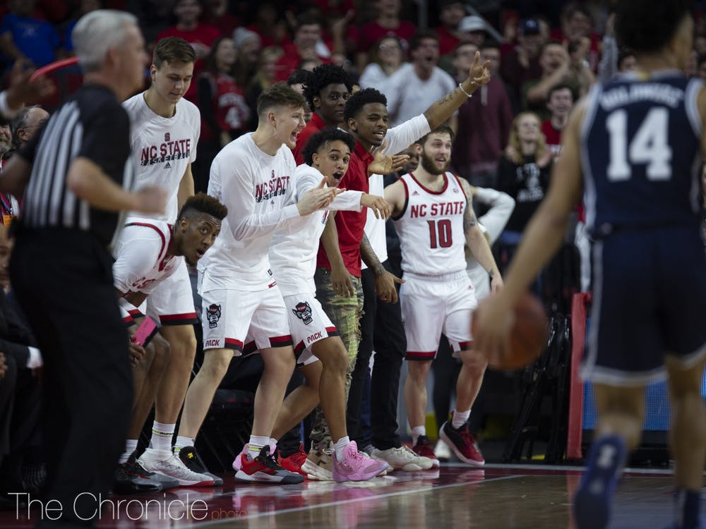 <p>The Wolfpack had plenty of reason to celebrate in the first half.</p>