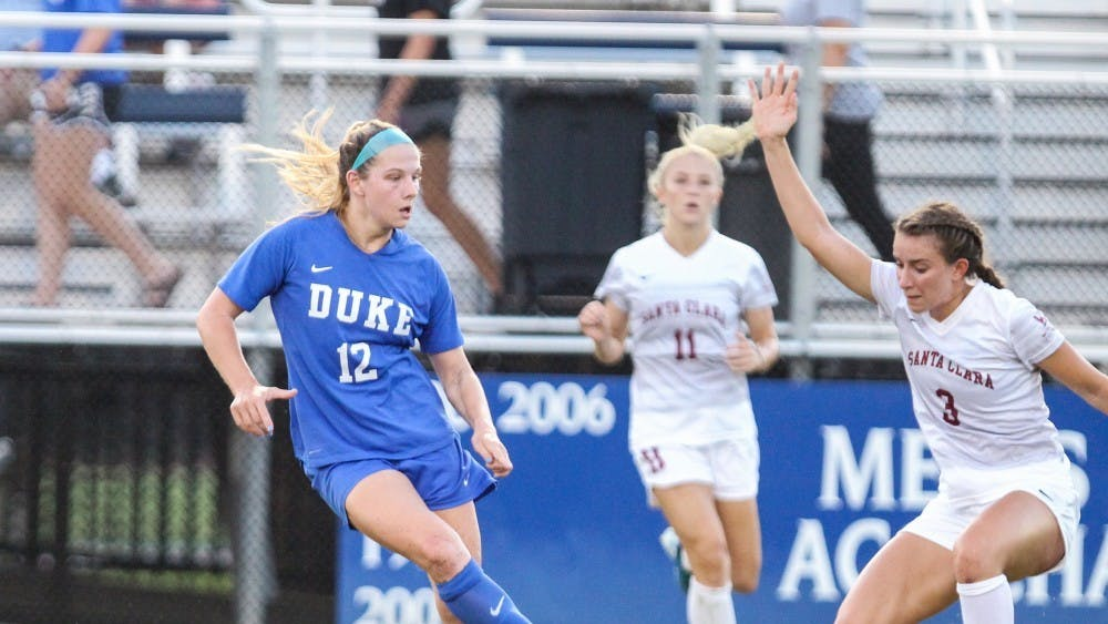 Marykate McGuire had Duke's best scoring opportunity of the night, but could not finish for a goal.