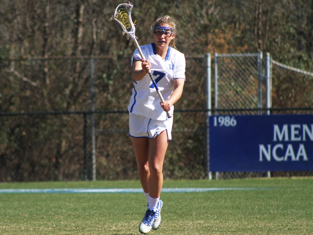 Senior Maddy Acton scored a career-high six goals Sunday, but the Blue Devils could not dig out of an 11-5 halftime deficit against No. 4 Syracuse.