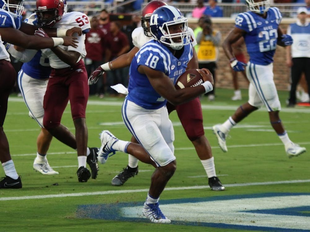 Quentin Harris made his second career start for Duke Saturday against N.C. Central.