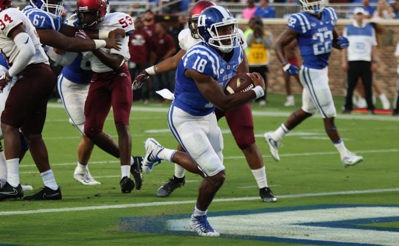 Quentin Harris has become Duke's starter at quarterback following Daniel Jones' clavicle surgery.