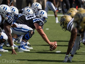 Duke is losing three starters on its offensive line to graduation and its offensive line coach to Mississippi State.
