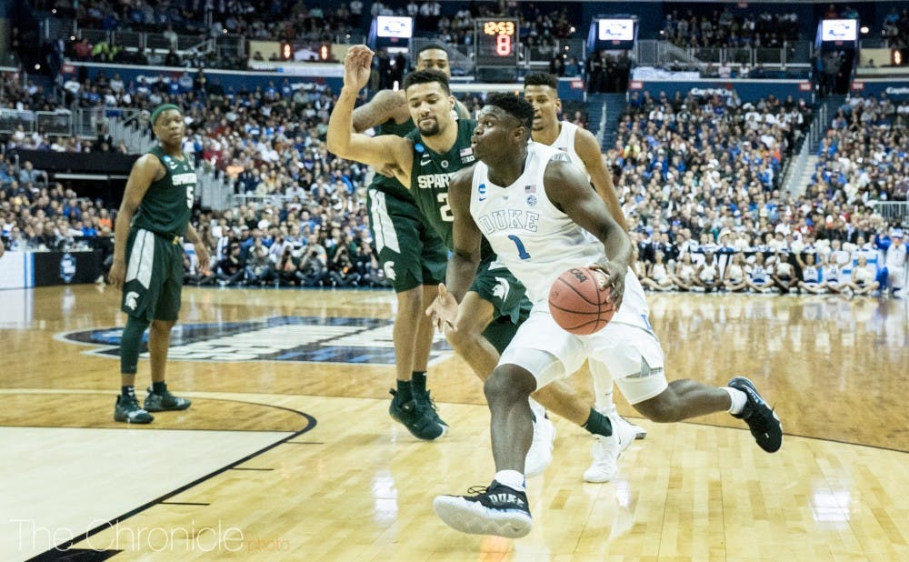 <p>The Blue Devils and Spartans will square off in a rematch of last season's Elite Eight.&nbsp;</p>