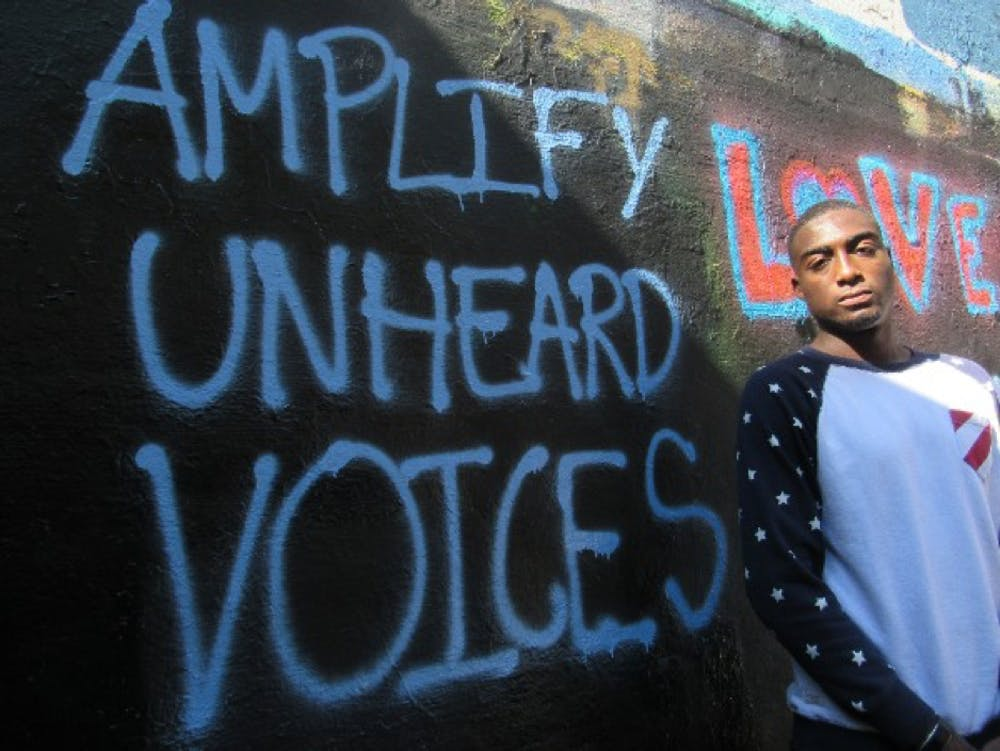 <p>This photograph was taken during the NAACP event&nbsp;after the threats&nbsp;had been painted over.</p>