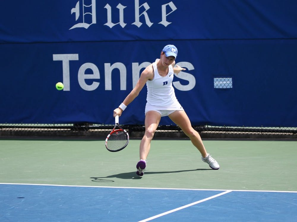 Junior Chalena Scholl helped Duke win the doubles point Friday and won her singles match in straight sets.