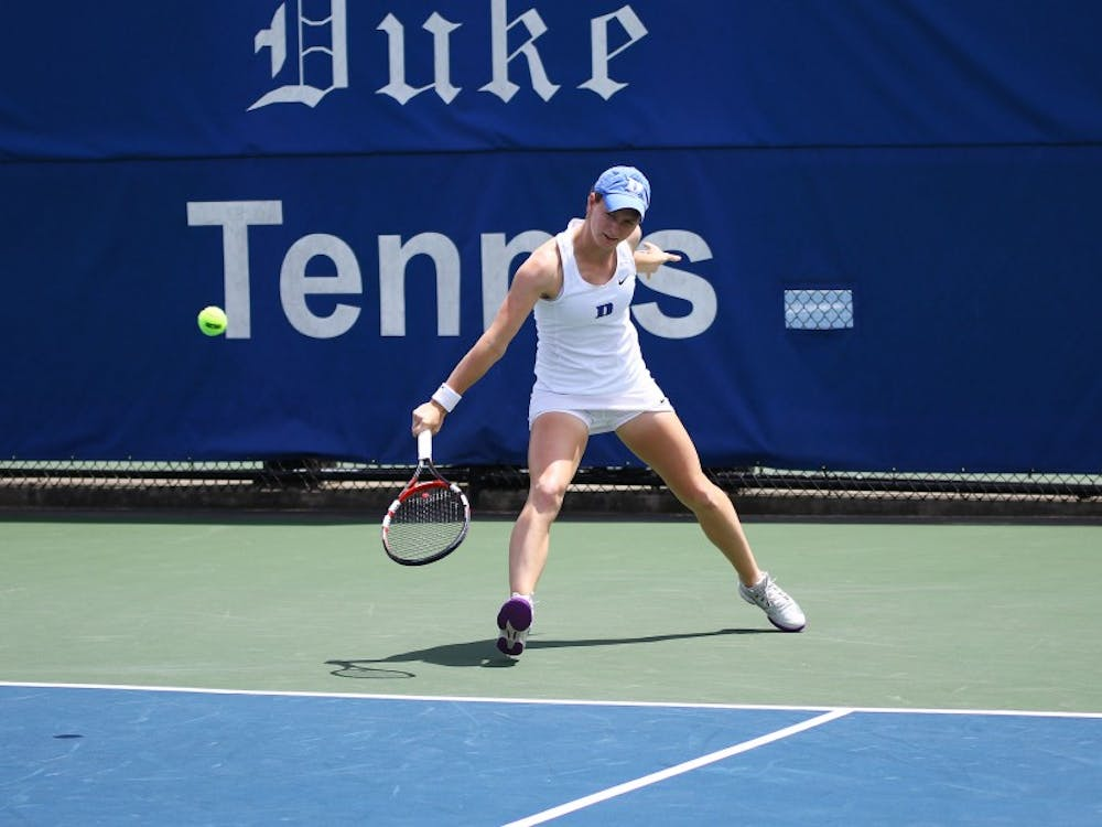 Junior Chalena Scholl helped Duke win the doubles point Fridayand won her singles match in straight sets.