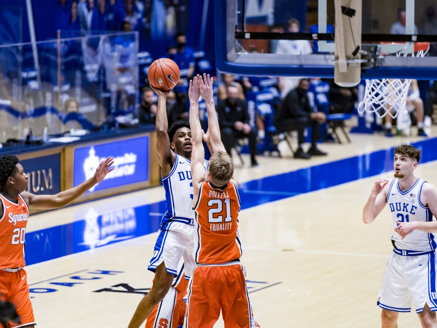 Jeremy Roach had arguably his most complete game as a Blue Devil Monday night, notching 14 points and seven assists.