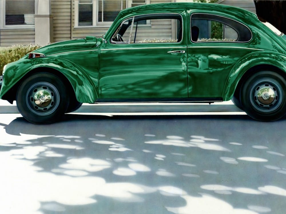 """Don Eddy's """"Green Volkswagen"""" (1971) is on view until Feb. 25, 2018 in the Nasher's exhibit """"Disorderly Conduct."""""""